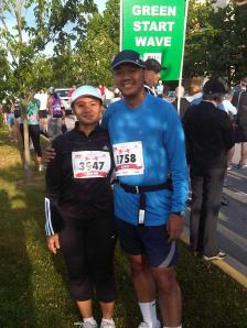 My wife and I at the Starting Line